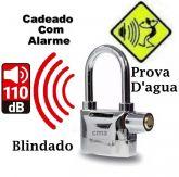Cadeado com Alarme Sonoro Blindado Anti-furto Segurança