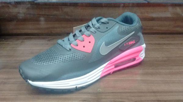 ... Tênis Nike Air Max 90 Cinza Rosa - Outlet Ser Chic 7676e986283b28 ... 9f61142e78ed7