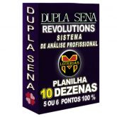 Planilha DUPLA SENA, aposte com 10 dezenas em 18 jogos 5 ou 6 pontos 100%.