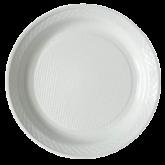 Prato Branco Descartável Raso 21cm 10un