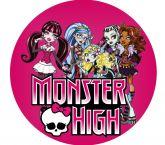 Papel Arroz Monster High Redondo 007 1un