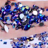 Pedrarias Para Unhas - Mix Modelos Sortidos Azul Bic