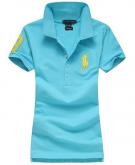 Camisa Polo Feminina Ralph Lauren - Azul Claro 82e9139469386