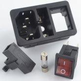 Cod 1653 - Conector com Chave liga e desliga e com Porta Fusível