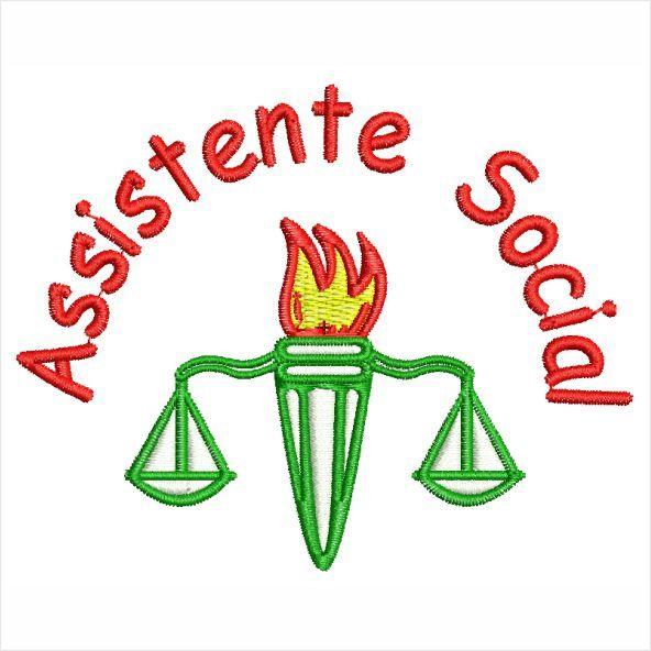 Assistente Social Matriz para Bordar
