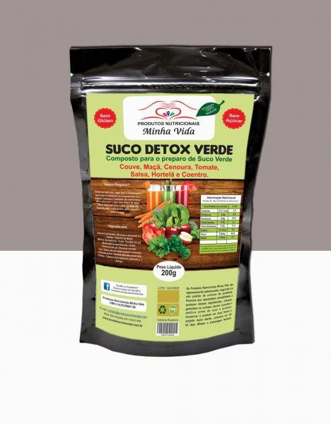 SUCO DETOX -Mistura p/ Suco Verde- Couve, Maçã, Cenoura, Tomate, Salsa,Hortelã, Coentro- 200 g