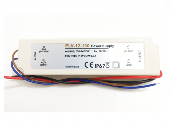 ELV-12-100 Driver p/ LED 12V / 100W IP67 Eccel