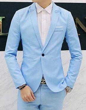9a16ab25e5 Blazer Masculino EleganceMan - Formal Casual Azul Claro - MW01 ...