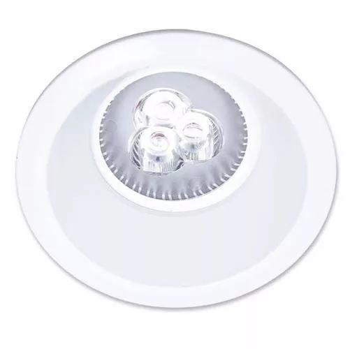 Spot Redondo Embutir Branco 3W