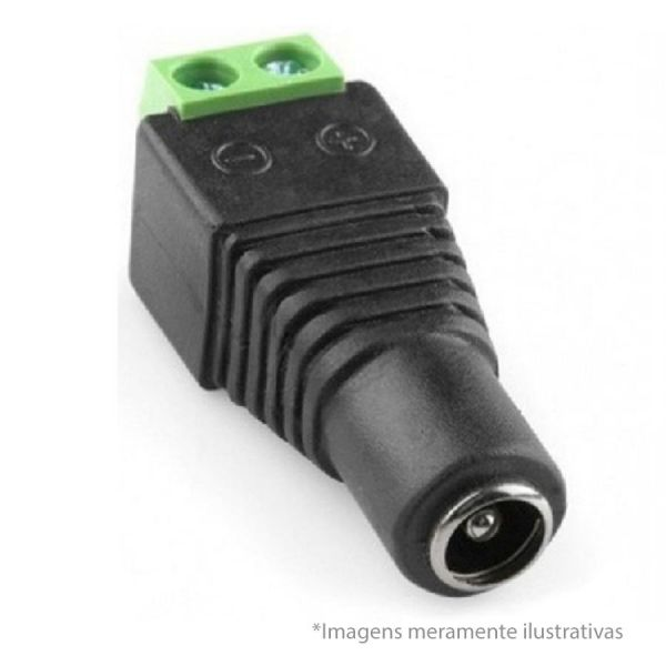 Conector Plug P4 Fêmea com Borne