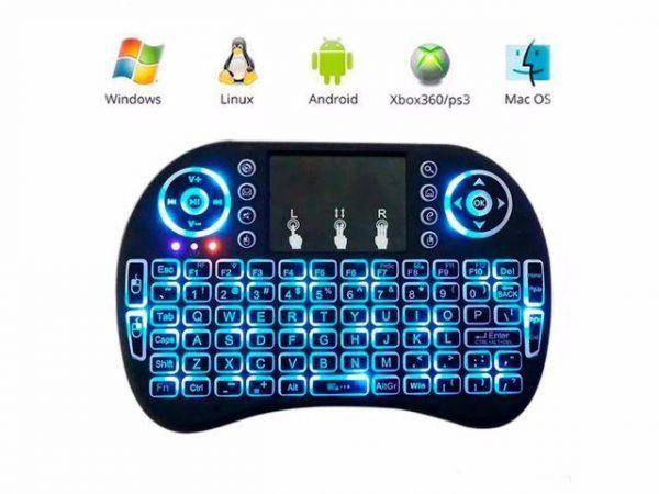 Mini Teclado Led Luz Sem Fio Wireless Touch Pad Pc Android