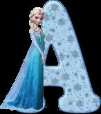 Alfabeto - Frozen Vestido de Gala 6 - PNG