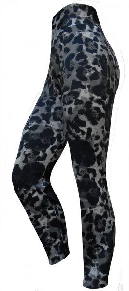 legging plus size preta e animal print(60/62),cintura alta, tecido suplex 360