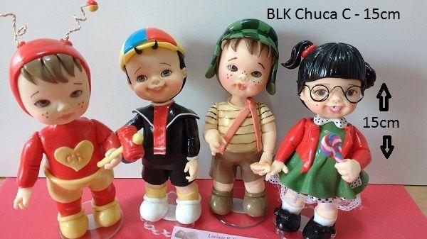 Boneca kit Chuca - corpo bipartido, braços e rosto
