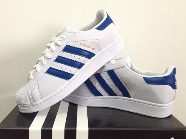 superstar adidas azul