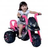 Moto Elétrica Infantil Fox G-Force Teen Monstros Preto/Rosa - Biemme 174