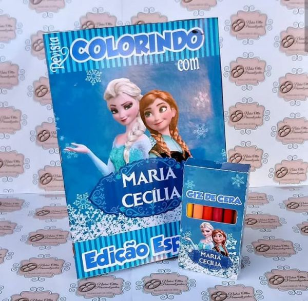 Kit para colorir Frozen