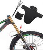 Paralamas dianteiro pequeno preto para bicicleta