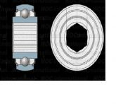 GSK-104-207-KRR-B (31.75X72X25) ROLAMENTO AGRICOLA C/ 10