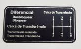 Plaquetinha  Indicadora alvanca de marcha ou caixa de transmissão Niva (nova) Ref.0826