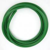 Correia Redonda De (Pu) Poliuretano  Lisa verde (Soldável)  6,5mm