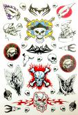 Kit 60 Tatuagens Caveiras E Tribais