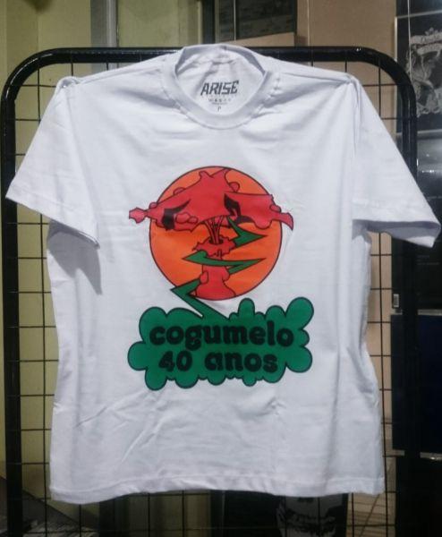 Camisa - Cogumelo Records 40 Anos - Branca