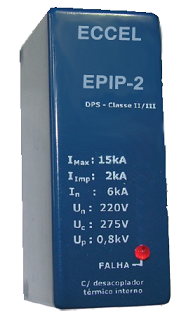 EPIP-2 Protetor Contra Surtos 220V p/ Luminárias LED 15kA
