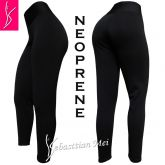 Legging preta neoprene (60/62) tecido grosso, macio e firme, média elasticidade