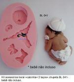 Kit Acessórios para Bebê com fralda e boné ( Bl 041 )