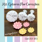 Kit Ejetores Flor Corações