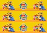 Papel Arroz Pooh Faixa Lateral A4 010 1un