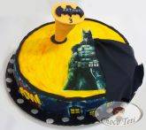 Bolo Batman BatSinal Pasta Americana