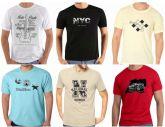 Kit 12 camisetas básicas - Cores e Tamanhos já vem Sortidos