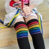 Meia 3/4 Rainbow