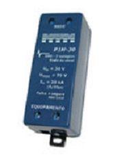 P1H-30AI Protetor Híbrido 20kA para Rede de dados 2 vias, 30V e de Alarme