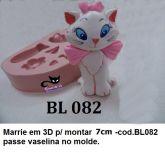Gatinha Marrie 3D para montar com 7cm ( BL 082)
