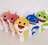 5 Displays de mesa - Baby Shark