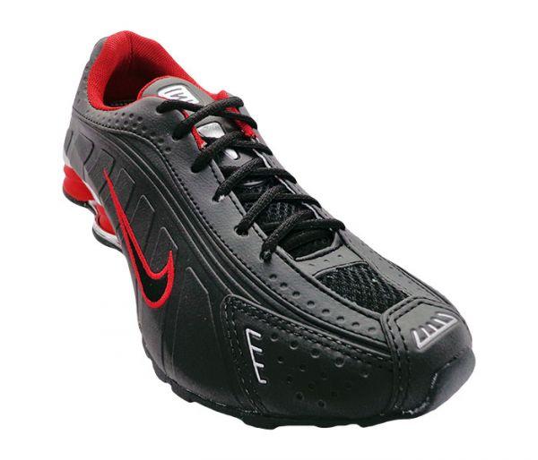 buy popular 2176e 5a716 Tênis Nike Shox R4 Cromado, Preto e Vermelho
