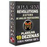 Planilha DUPLA SENA, aposte com 19 dezenas em 1117 jogos 5 ou 6 pontos 100%.