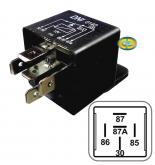 Relé Auxiliar Reversor 40/10A 12V com Suporte 5 Terminais - CD8292