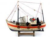 Barco Pesqueiro Decorativo 30 Cm - Em Madeira 30 x 27 cm Marrom - Decor Glass