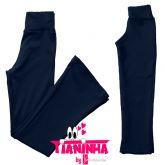 calça bailarina/flare ou reta azul(08-10-12-14), tecido neoprene
