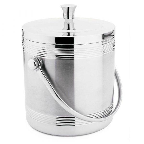 Balde Térmico Para Gelo Com Coletor De Água Em Inox - 1,4 L