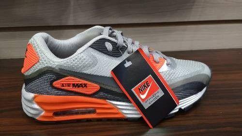 f74c5320904 Tênis Nike Air Max 90 Cinza c  Laranja - Outlet Ser Chic