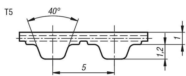 Correia T5 620 15mm - Poliuretano (620 T5) Sincronizadora Rexon