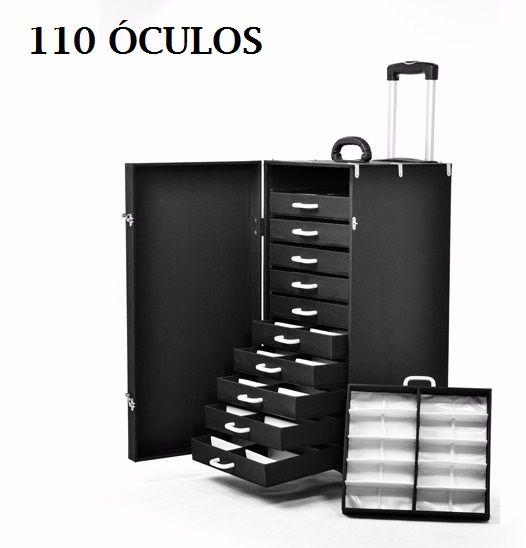 Expositor Carrinho 110 Oculos de sol Maleta Estojo Mala C/ Rodinha