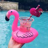Boia Porta Copo Inflavel Flamingo