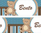 Faixa  Adesiva Urso Poa Listras - 022