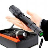 Lanterna Tática Led 99000w Com Zoom 4 Baterias E Red Sinalizador